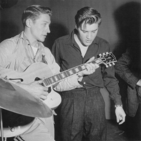 Scotty and Elvis rehearse for Milton Berle Show